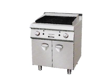 燃气火山石烧烤炉连柜座