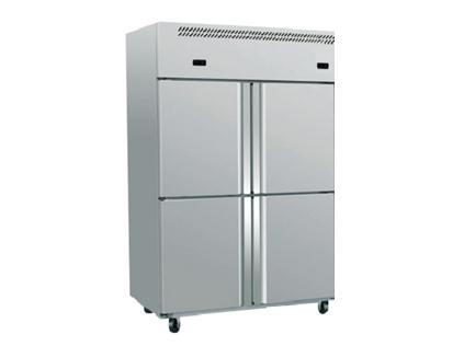 石家庄厨房设备四门双温冷柜
